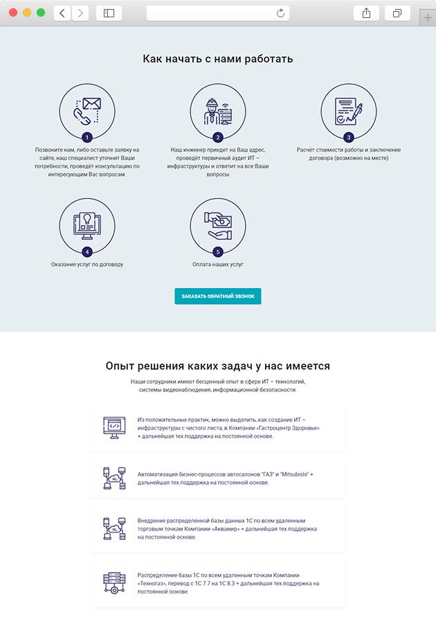 разработка сайта компании интеб по информационной безопасности опыт решения задач